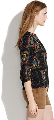 Madewell Peasant Blouse in Floral Frame