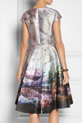 Mary Katrantzou Babelonia metallic jacquard dress