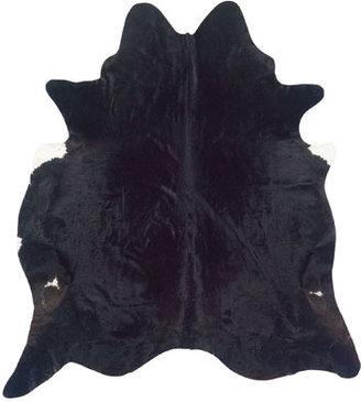 Napa Style Brazilian Black Cowhide Rug