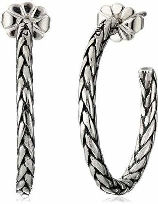 Zina Sterling Braided Hoop Earrings
