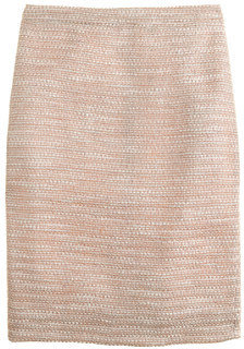 J.Crew Collection peach tweed pencil skirt