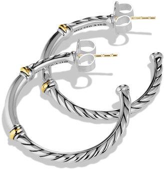 David Yurman Metro Small Hoop Earrings with Gold