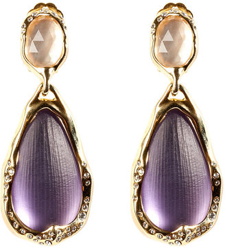 Alexis Bittar Lavender Ophelia Gold-Toned Drop Clip Earring
