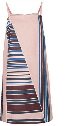 Topshop Stripe Canvas Pini Dress By Boutique