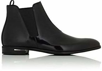 Prada Men's Spazzolato Leather Chelsea Boots - Black