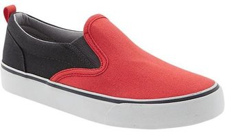 Old Navy Boys Color-Blocked Canvas Slip-Ons