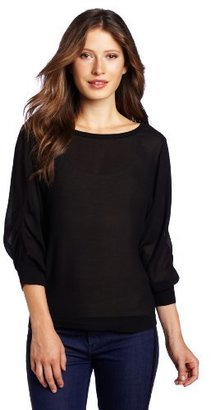 AG Adriano Goldschmied Women's Peasant Sleeve Top