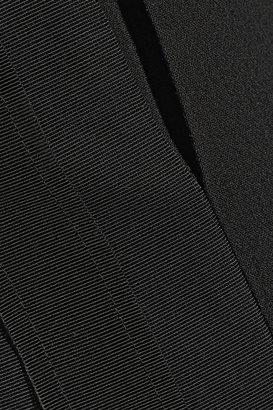 Emilio Pucci Grosgrain-trimmed wool-blend crepe jumpsuit