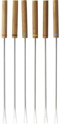 Crate & Barrel Set of 6 Fondue Forks