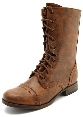 Charlotte Russe Distressed Lace-Up Combat Boot