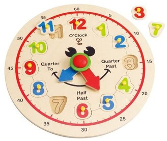 Hape Happy Hour Clock - Time Learning Puzzle