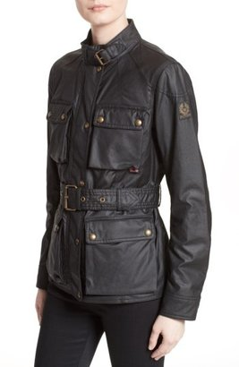 Women's Belstaff 'Roadmaster' Waxed Cotton Coat $795 thestylecure.com