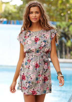 Delia's Floral Blelted Shift Dress