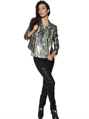 Faith Connexion Laminated Nappa Leather Chiodo Jacket