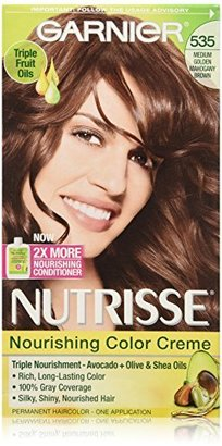 Garnier Nutrisse Nourishing Color Creme 535 Medium Gold Mahogany Brown (Chocolate Caramel) $7.99 thestylecure.com
