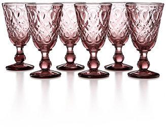 La Rochere French Home Glassware, Set of 6 Lyonnais Purple Wine Glasses