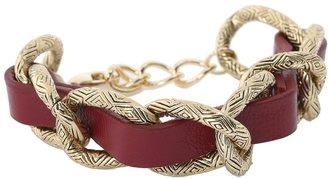 House Of Harlow Engraved Link Bracelet