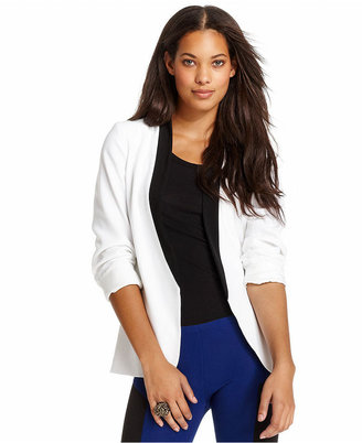Bar III Jacket, Three-Quarter Tuxedo Blazer