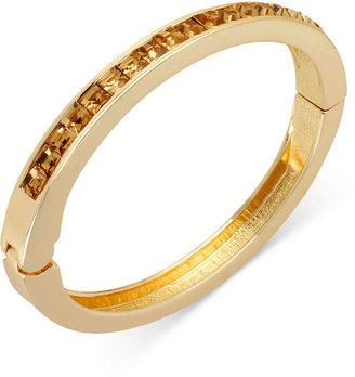 Kenneth Cole New York Bracelet, Gold-Tone Topaz Glass Stone Bangle Bracelet