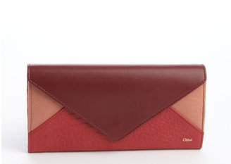 Chloé Red Patchwork Leather Wallet
