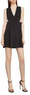 BCBGMAXAZRIA Kalie Woven Pleated Fit--Flare Dress