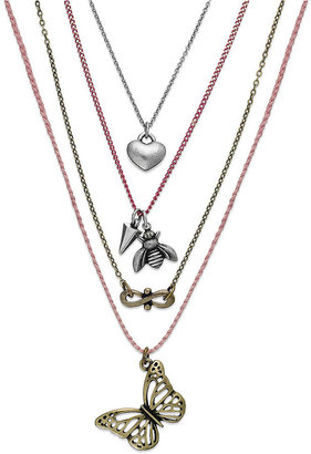 American Rag Necklace Set, Two-Tone Bee, Butterfly, Heart and Infinity Charm Necklaces