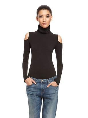 DKNY Cold Shoulder Turtleneck Tee