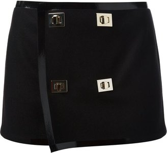 DSQUARED2 turn lock mini skirt