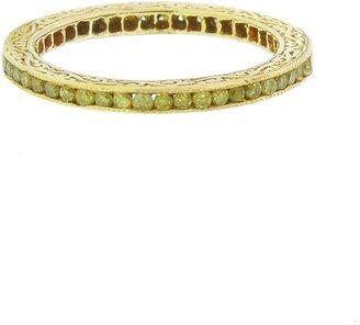 Channel Set Yellow Diamond Ring - Yellow Gold