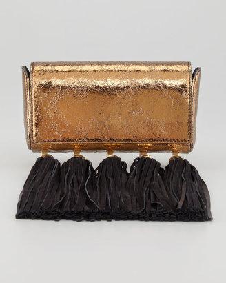 Z Spoke Zac Posen Claudette Multi Tassel Clutch, Bronze