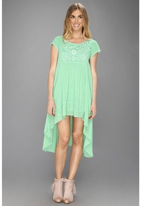 Free People Marina Embroidered Dress (Grasshopper) - Apparel