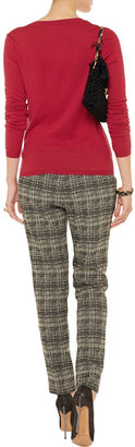 RED Valentino Fine-knit cashmere and silk-blend sweater