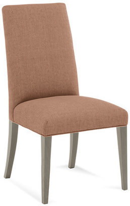 Saloom Furniture Model 60 Parsons Upholstered Side Chair with Slate Wood Legs