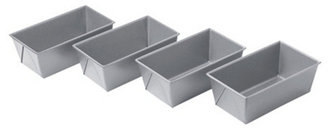 S/8 Mini Loaf Pans, Silver