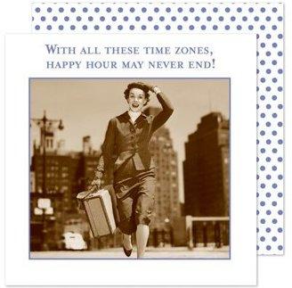 """Sur La Table Shannon Martin """"Time Zones"""" Paper Cocktail Napkins"""