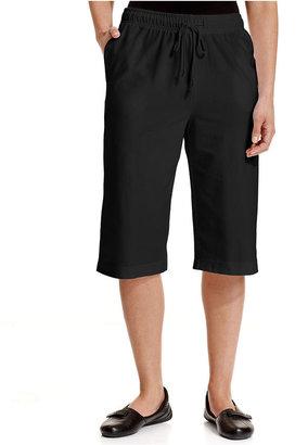 Karen Scott Straight-Leg Pull-On Shorts
