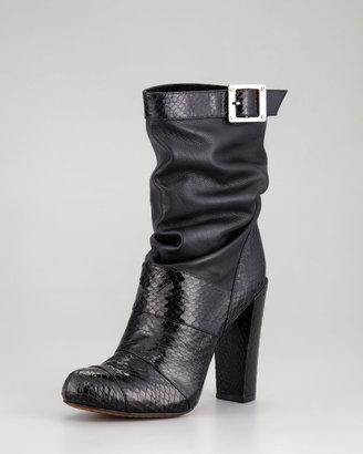 Rachel Zoe Claudia Snakeskin-Napa Slouch Boot