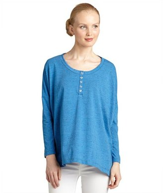 LnA blue jersey 'Encinitas' long sleeve henley