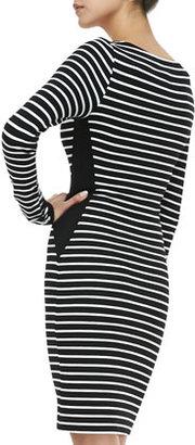 Velvet by Graham & Spencer Long-Sleeve Striped Sheath Dress