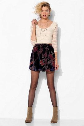 Urban Outfitters Staring At Stars Burnout Velvet Mini Skirt