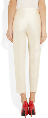 J.Crew Cropped wool and silk-blend twill pants