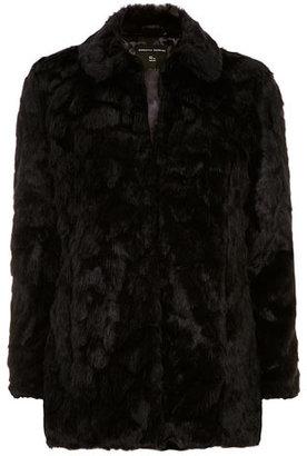 Dorothy Perkins Midnight textured faux fur coat