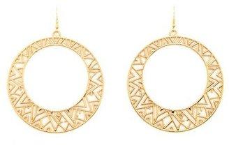 Charlotte Russe Geo Cutout Hoop Earrings