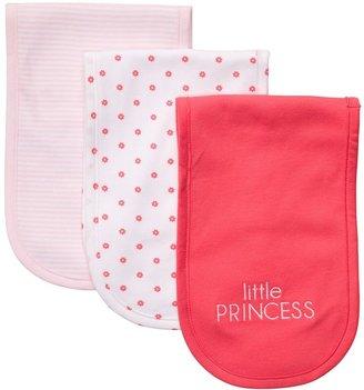 """Carter's 3-pk. """"little princess"""" burp cloths"""