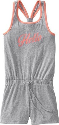 Old Navy Girls Heathered Racerback Rompers