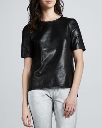 Vince Loose Leather Tee