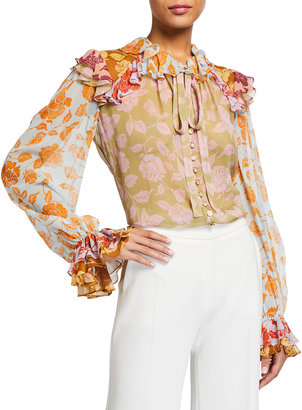 Zimmermann The Lovestruck Ruffle Button-Down Shirt