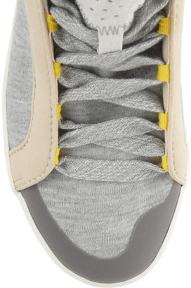 adidas by Stella McCartney Discosura Hiker jersey and faux suede sneakers