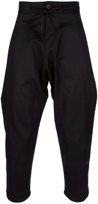 Uma San tapered drop crotch trouser