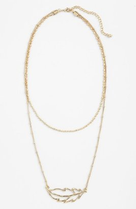 Nordstrom 'Azteca' Multistrand Pendant Necklace Gold